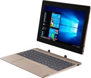 Lenovo Ideapad D330 with Keyboard 4 GB RAM 64 GB ROM 10.1 inch with Wi-Fi Only Tablet (Bronze)