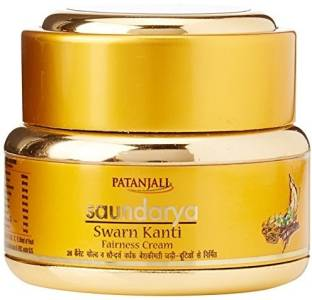 PATANJALI Saundarya Swarna Kanti Fairness Cream purified gold with natural oils 15g