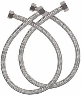 """KKD PREMIUM QUALITY { SS 304 } BRAIDED CONNECTION PIPE 24"""" (SET OF 2) Hose Connector"""