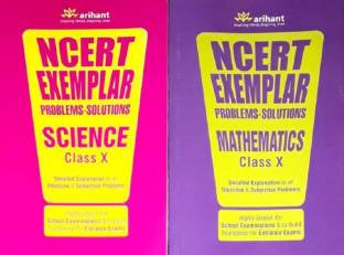 NCERT EXEMPLAR PROBLEMS-SOLUTIONS SCIENCE AND MATHEMATICES CLASS 10 ( Set Of 2 Book Original By ARUSHI01 Saller )