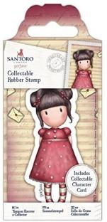 docrafts Gorjuss Santoro Rubber Stamp-Heartfelt
