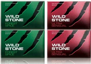 Wild Stone 2 Ultra Sensual Soap 125GM and 2 Forest Spice Soap 125GM
