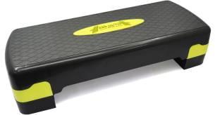 ABB INITIO Polypropylene Adjustable Home Gym Exercise Fitness Aerobic Stepper (Black&Yellow) Stepper