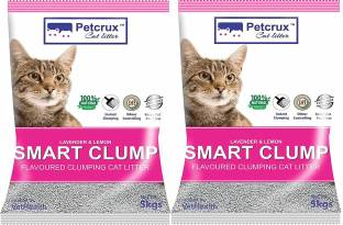Petcrux Exclusive Scoopable Smart Bentonite Cat Litter, 5Kg (Pack of 2 - Total 10 kg) Pet Litter Tray Refill