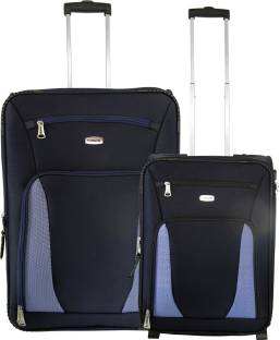9da5ccda29a TIMUS Morocco Upright 55   65cm Black Travel Combo Expandable Check-in  Luggage - 24
