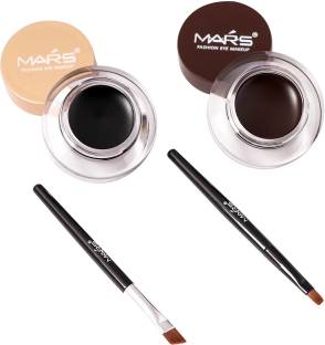 M.A.R.S 2 in 1 Black & Brown Water Proof & Smudge Proof 24hrs Gel Eyeliner 8 g