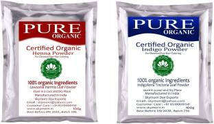 Subh Selection Natural Hair Color - 100% Pure Henna and Indigo Powder Combo pack 100g & 100g each!