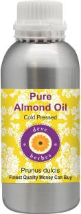 deve herbes Pure Almond Oil (Prunus dulcis) 100% Natural Therapeutic Grade Cold Pressed