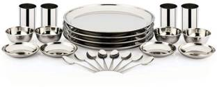 Pigeon Pack of 24 Stainless Steel Sparkle Dinner Set
