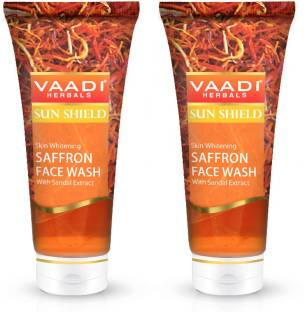 VAADI HERBAL Value Pack of 2 Skin Whitening SAFFRON FACE WASH with Sandal extract (60mlx2) Face Wash