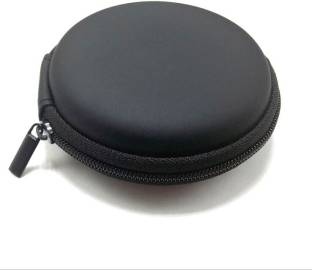 Unbranded Leather Zipper Headphone Pouch