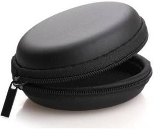 Vatsin Leather Zipper Headphone Pouch