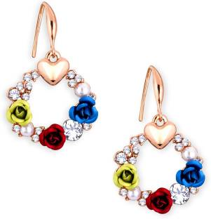 8062daa09 Alamod Alamod Alloy Metal Multi-color Floral Dangle Earring For Women  Diamond Alloy Dangle Earring