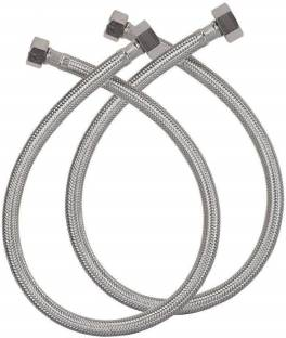 TRENTECH ALT2005 Premium Quality 304 Grade Stainless Steel Connection Pipe, (Pack of 2), (24 Inch) Hose Pipe