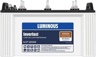 LUMINOUS Inverlast ILST12042 100Ah Short Tubular Battery Tubular Inverter Battery