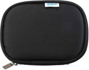 Saco Back Cover for Transcend StoreJet 25M3 2.5 inch 1 TB External Hard Disk (Black, , Artificial Leather)