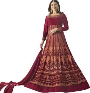 1f17a1eae BAPS Georgette Self Design Semi-stitched Salwar Suit Dupatta ...