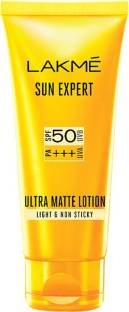 Lakmé Light and Non Sticky Sun Expert Ultra Matte Lotion - SPF 50 PA+++