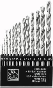 GSK Cut High-Speed Steel Drill Bit Set 13 Pieces Set for Wood, Malleable Iron, Aluminium, Plastic Etc.