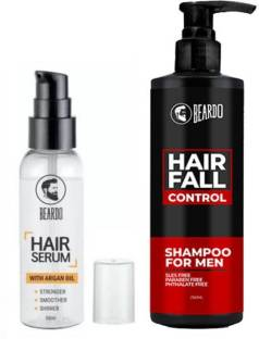 BEARDO HAIR FALL CONTROL SHAMPOO for Men (250ml) And HairSerum (50ml)