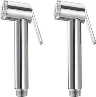 Supreme Bazaar Sleek Health Plastic Faucet Head (Silver) - Set of 2 Push Cock Faucet Bathroom Toilet H...