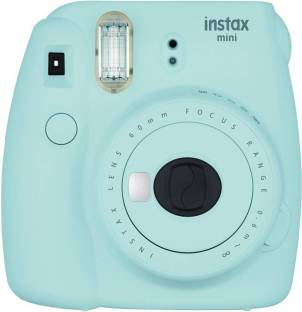 FUJIFILM mini 9 Ice Blue with 2 monochrome film ( 20 Shots ) Instant Camera