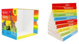 My First Library - First Mini Library of 10 Board Books to Develop Basic Concepts for Little Scholars. Well-Researched Pictures Ensure Faster Development of a Child's Vocabulary.