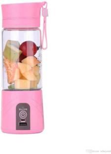 WDS 1 USB Juicer Cup, Fruit Mixing Machine 12 Juicer Mixer Grinder (1 Jar, Pink)