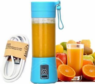 WDS 1 USB Mini Juicer Bottle Blender for Making Juice, Shake - Multi Color 220 Juicer Mixer Grinder (1...