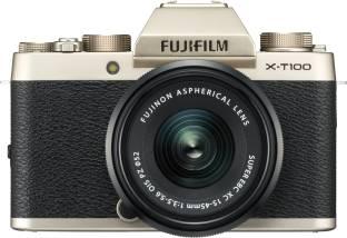 FUJIFILM X Series X-T100 Mirrorless Camera Body with XC 15 - 45 mm Lens F3.5 - 5.6 OIS PZ