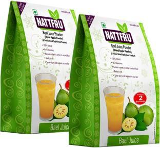 Nattfru 100% Natural, Pure & Freeze Dried Bael Juice Powder | Bael powder | Wood Apple | Bael fruit powder – Pack of 2