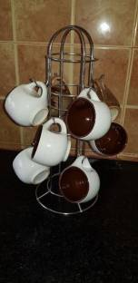 Lyallpur Stores Stainless Steel Coffee Cup Holder / Tea Cup Stand / Mug Holder Stand Cup Kitchen Rack
