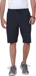 CARBON BASICS Solid Men Black Regular Shorts