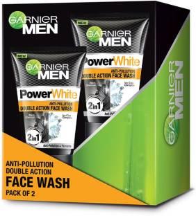 Garnier Men Men Power white Anti-Pollution Double Action Face Wash