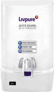 LIVPURE Glitz Silver RO Water Purifier 7 L RO + UF + TDS Water Purifier