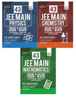 43 JEE Main ONLINE & OFFLINE Physics, Chemistry & Mathematics Topic-wise Solved Papers 6th Edition