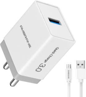 Ambrane AQC-56 3.0 Quick Charge 18 W 3 A Mobile Charger with Detachable Cable