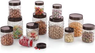 MASTER COOK 12 PC PET JARS SET  - 250 ml, 600 ml, 1200 ml Plastic Grocery Container