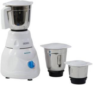 USHA 2853 500 Mixer Grinder (3 Jars, White)