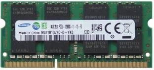 SAMSUNG 1600mhz low voltage DDR3 8 GB (Dual Channel) Laptop (M471B1G73QH0-YK0 PC3L- 12800S)
