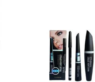 nnbb Eyebrow Pencil Black & Liquid EyeLiner & Mascara (Set of 3)