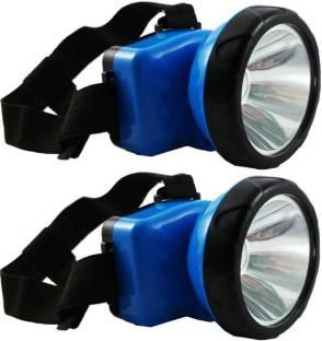 NKZ Pack Of 2-Adjustable Head Lamp Bright & Long Range Torch