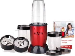 LA'VITE LVMB Cherie 380 Mixer Grinder (3 Jars, Red, Black)