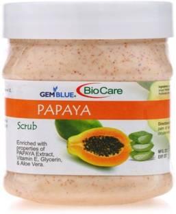 BIOCARE Gemblue Papaya Scrub, PACK OF 1 Scrub