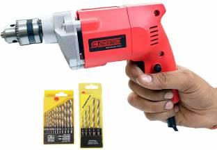 CHESTON Cheston 10mm Powerful Drill Machine for Wall,Metal, Wood Drilling CHD-2310.13HSS.5WALLbit Pist...