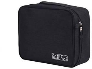 GOCART Travel Toiletry Organizer Bag Cosmetic Case Makeup Pouch Black Travel Shaving Kit