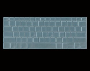 Laptop Silicone Keyboard Cover Skin for Dell Inspiron Inspiron 14 5000 Series 5480 3000 Series 3442 7000 Series 7437 14 Inch-Clear