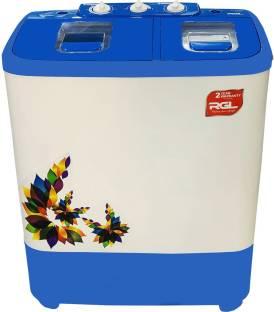 RGL 6.8 kg Semi Automatic Top Load White, Blue