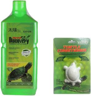 TAIYO Pluss Discovery Turtle food with one turtle conditioner. 1 kg Dry New Born, Young, Adult Turtle ...
