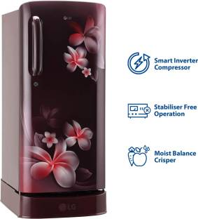 LG 190 L Direct Cool Single Door 3 Star Refrigerator with Base Drawer